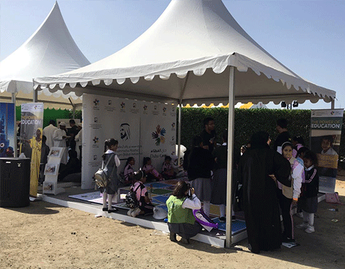 Volunteer with Dubai Cares at the Ministry of Education National Science, Technology and Innovation Festival